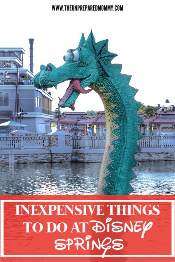 Going to Disney Springs might seem like an expensive adventure, but there are lots of inexpensive things you can do at Disney Springs that can even be free and still have a great time. #disneysprings