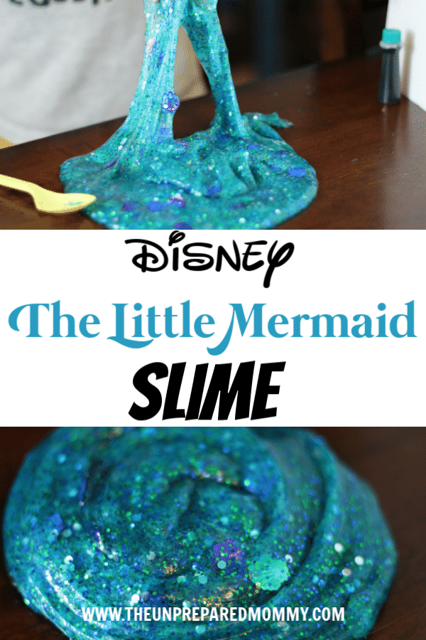 Feel like you are in the ocean with this Disney The Little Mermaid slime. #thelittlemermaid #slime #disneyslime #disney